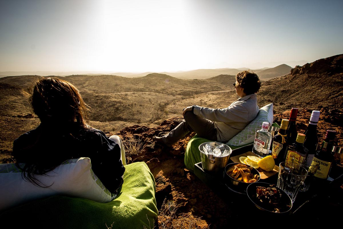 Huab under canvas sundowners, Ultimate Safaris