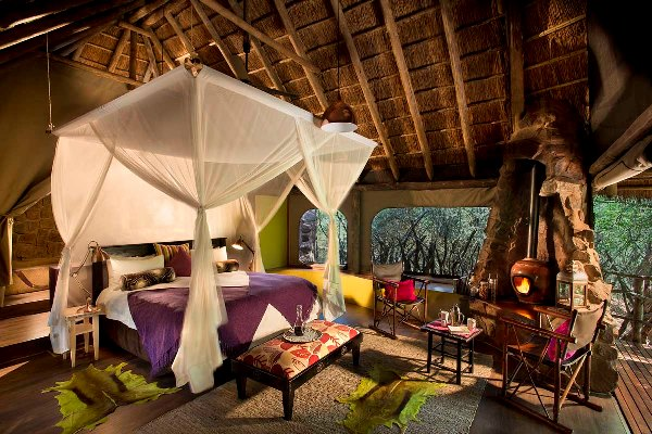 Malaria Free Bush and Beach Jaci's Safari Lodge tented bedroom suites