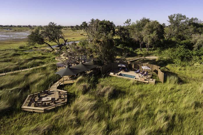 Little Vumbura - Okavango Delta, Botswana aerial Botswana and Victoria Falls