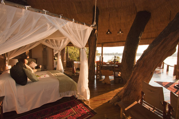 Tongabezi 'Tree House' on the river, Zambia Botswana and Victoria Falls