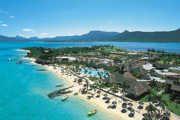 Malaria Free Bush and Beach - Paradis Beachcomber Hotel and Golf Club aerial Mauritius