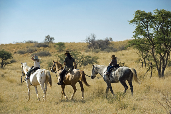 Family ride out at Tswalu, South Africa lodge based day rides