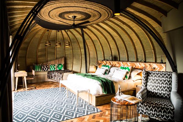 Bisate Lodge, bedroom Rwanda primate safaris new primate safaris