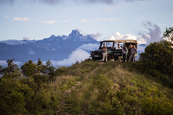 Beautiful views of Mount Kenya on a game drive