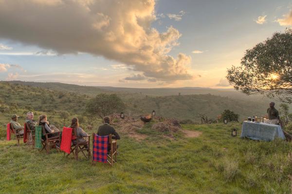 Sundowners in the stunning Borana Conservancy