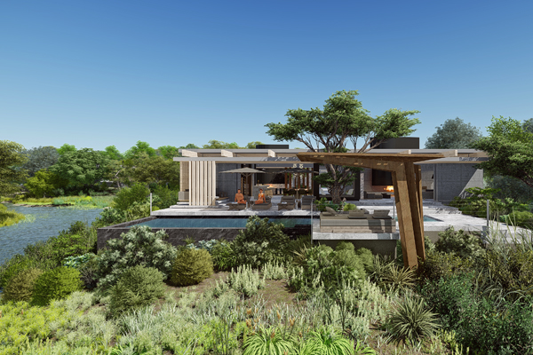 Artist's impression of a the new Cheetah Plains camp 'micro lodges' South African Safaris