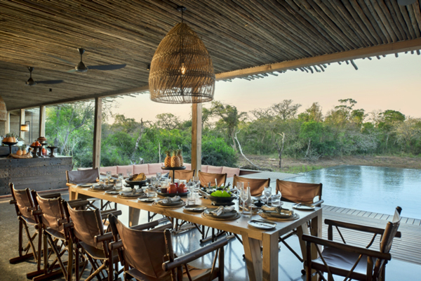 AndBeyond Phinda Homestead, private dining in the magnificent private villa, South African Safaris