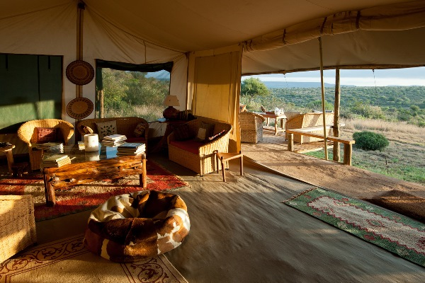 Views over the landscape from Laikipia Wilderness Camp