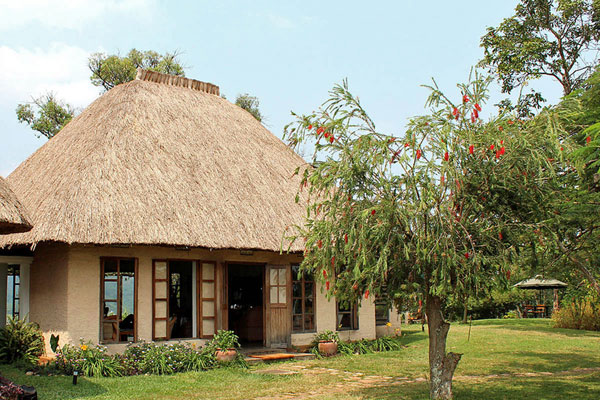 Ndali Lodge cottage, set in beautiful grounds, Uganda