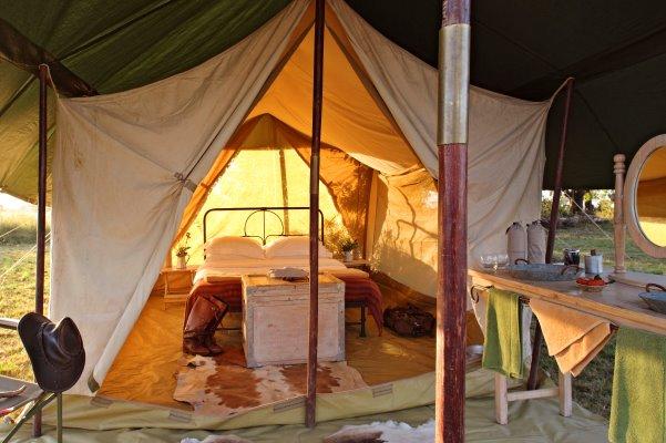 Comfortable and spacious safari tents