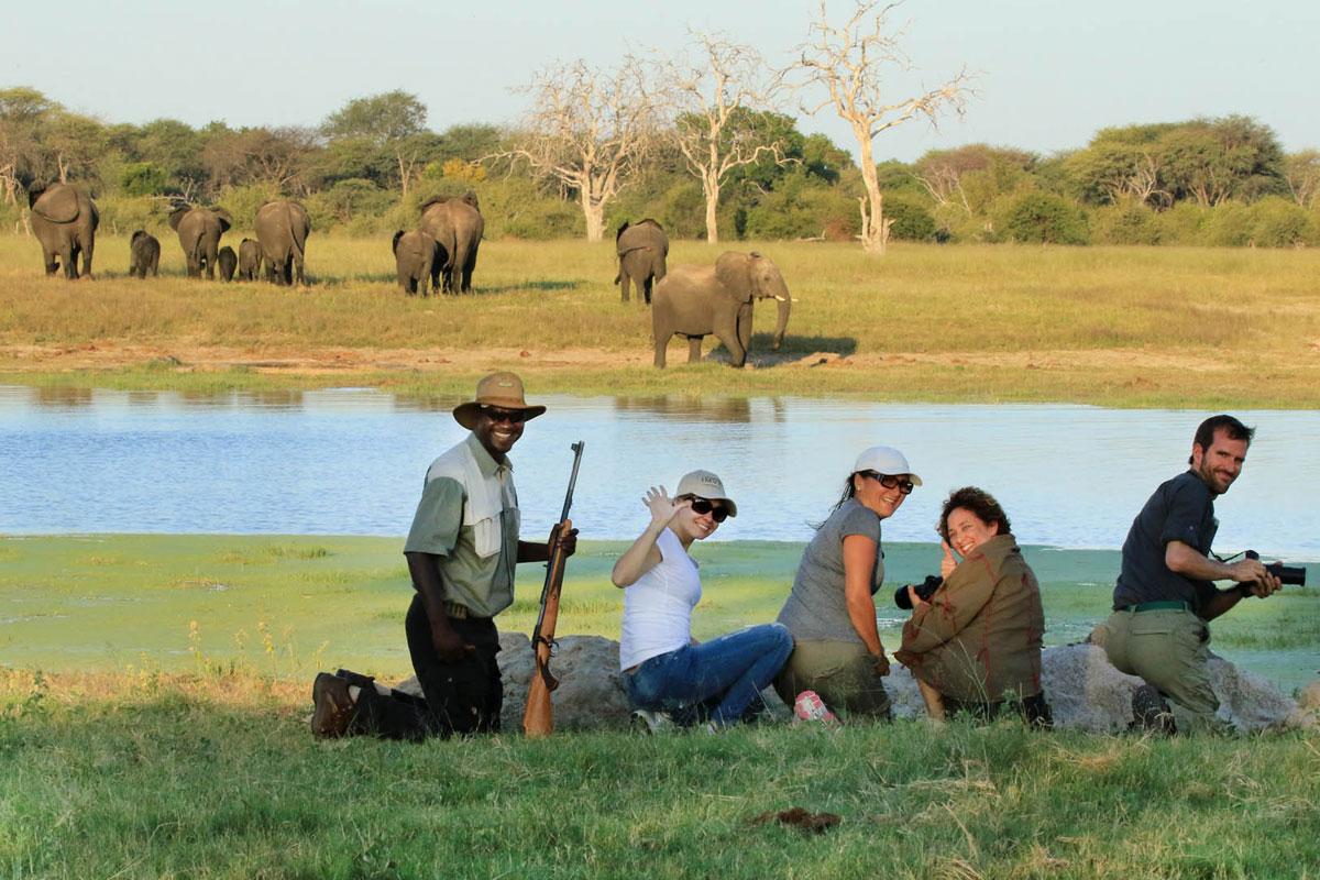 Bomani Tented Lodge walking safari
