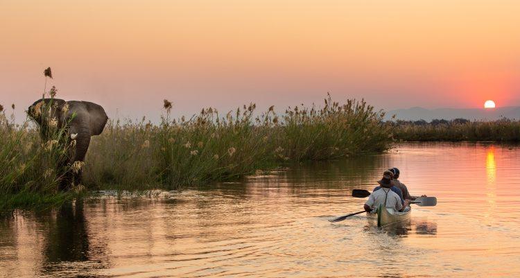 active canoeing