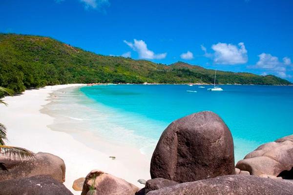 Anse Lazio beach on Praslin, Seychelles