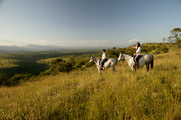 Fabulous riding country at Lewa Wilderness
