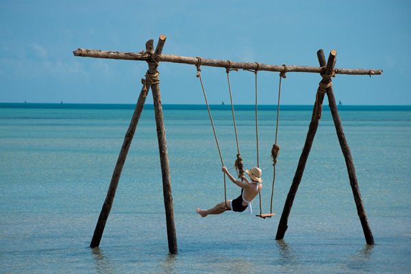Swing at And Beyond Benguerra Island Lodge