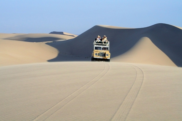 Exploring the dunes on a Schoeman Skeleton Coast Safari
