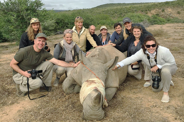 Rhino Conservation group at Kwandwe