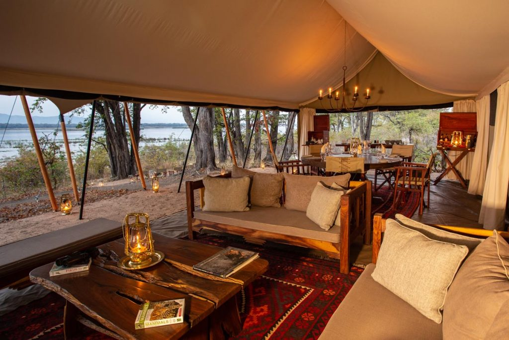 Sapi Explorers Camp lounge tent