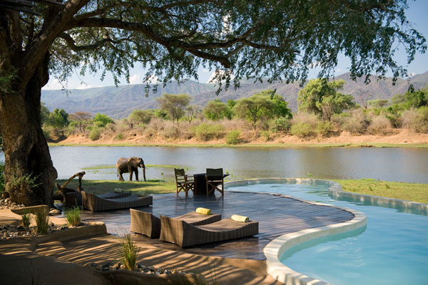 Not your average back garden, Chongwe River House