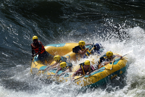 White water rafting at Thorntree River Lodge