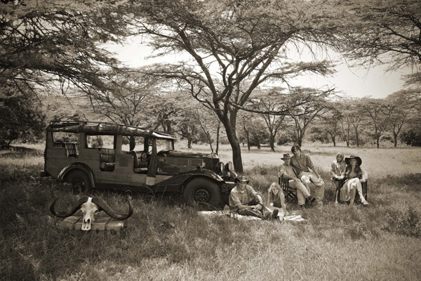 Game drive, Cottar's 1920s Safari Camp