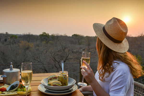 A sundowner picnic to remember forever at Kingston Treehouse - lady