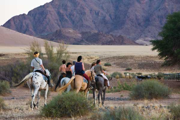Riding from Desert Homestead, Wilderness Safaris
