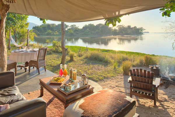 River views from the Albida Suite, Chongwe Camp