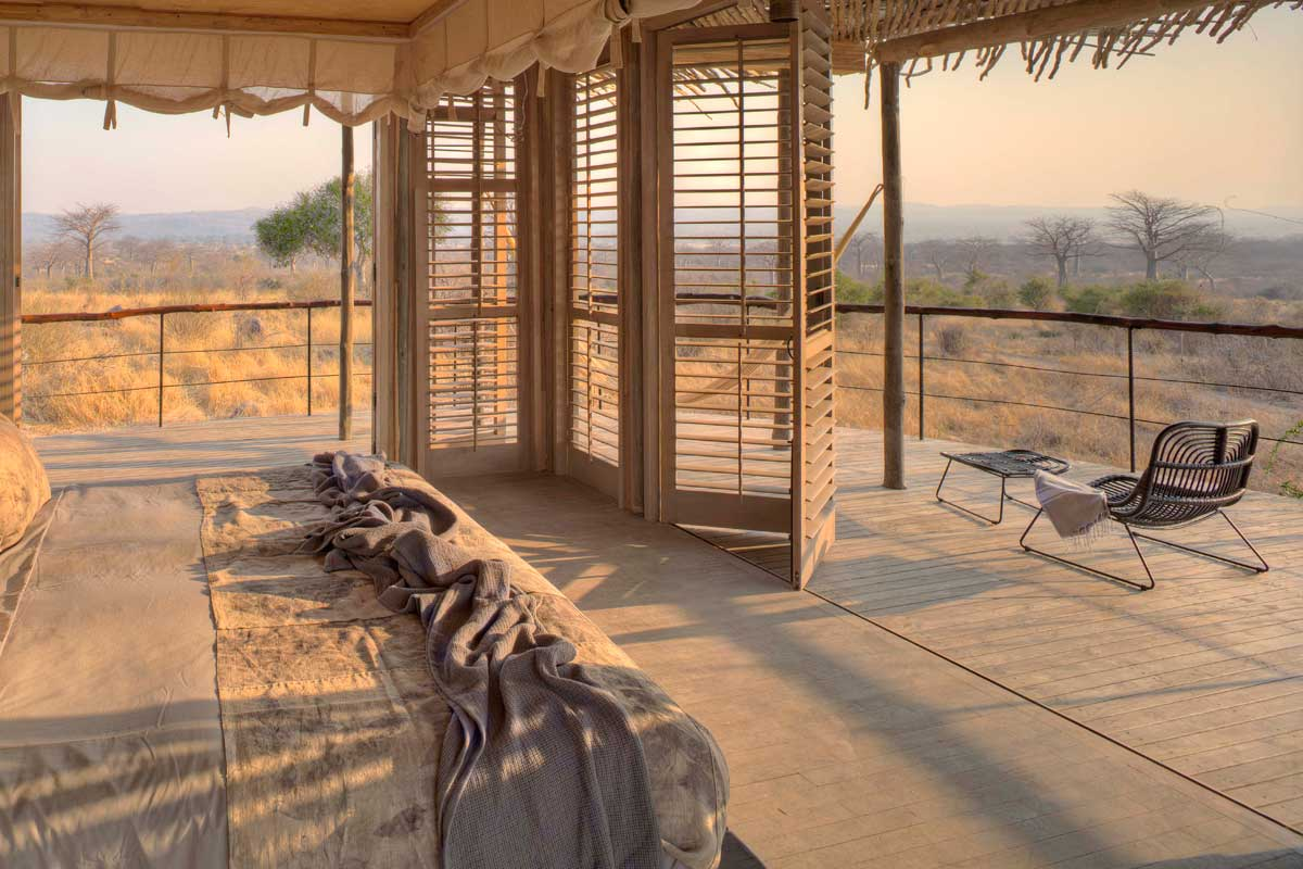 Luxurious accommodation at Jabali Ridge, Ruaha National Park