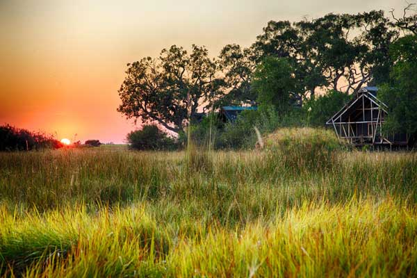 Sunrise at Lebala Camp, Kwando Safaris, Botswana