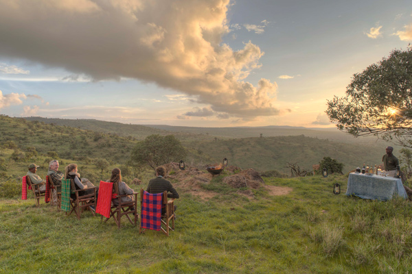 Sundowners at Borana Lodge, Kenya