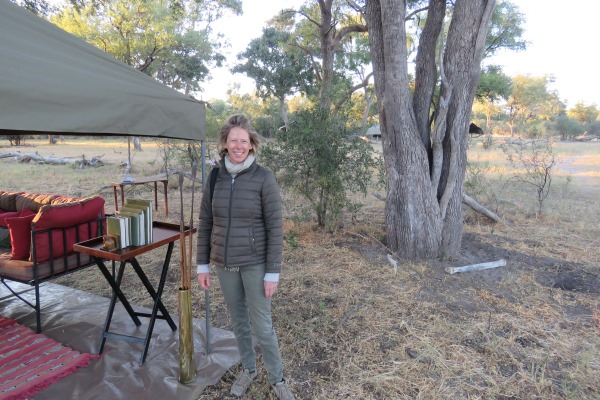 Charlotte, happy to be back in Botswana at Uncharted Africa Mobile Safaris