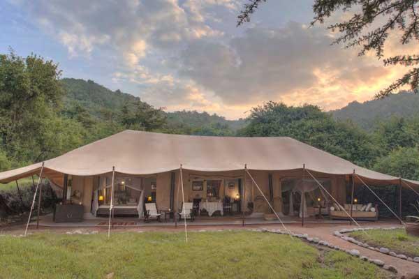 Fabulous family tent at Cottar's 1920's Safari Camp