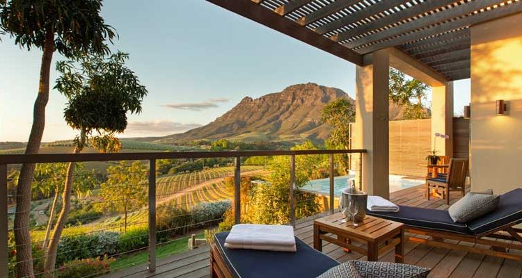 Delaire Graff Cape winelands view South Africa's southern coast