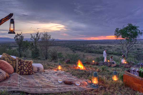 Sundowners at Kicheche Valley Camp