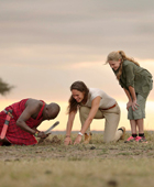 Family safaris Kenya - Masai teaching children at Elephant Pepper Camp, Masai Mara