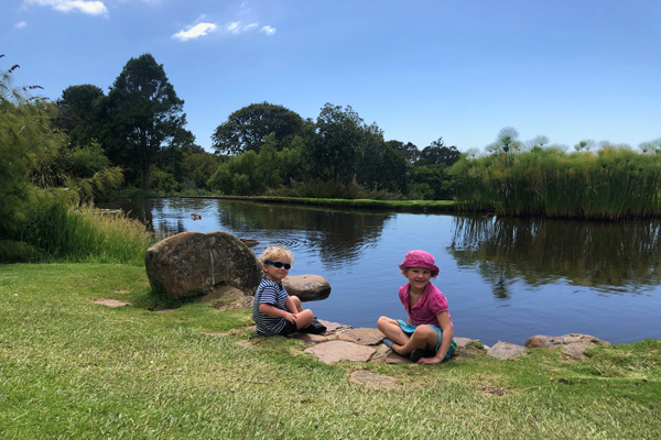 George and Bella at Kirstenbosch credit Rosanna Pile
