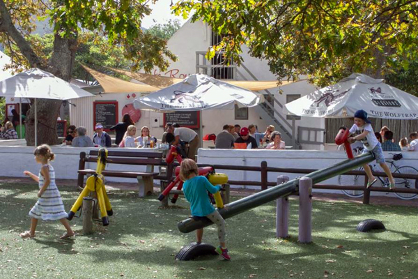 Children's play area at Noordhoek Farm Village