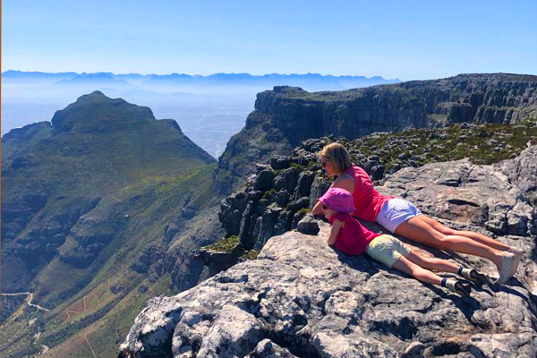 Rosanna and Bella at the top of Table Mountain credit Rosanna Pile