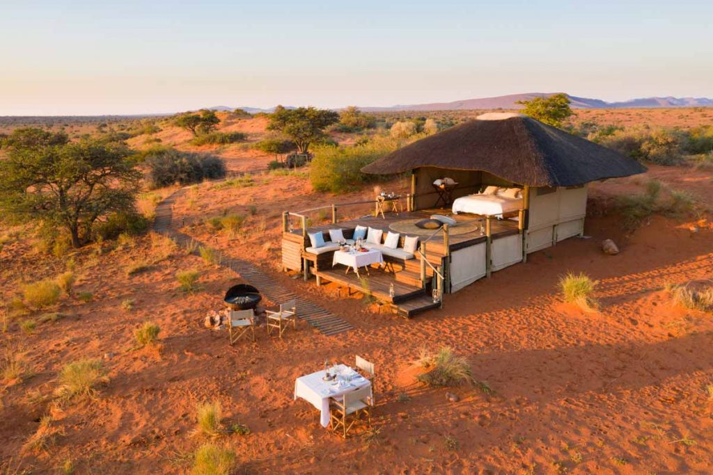 Tswalu Motse Malori desert sleepout bed