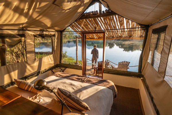 Glorious river front setting at Chongwe River Camp
