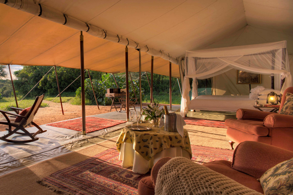 Beautiful tents at Cottar's 1920s Safari Camp