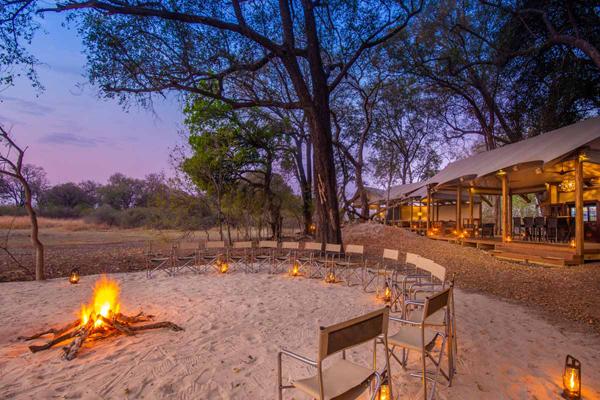 Kwara Camp ready for sundowners
