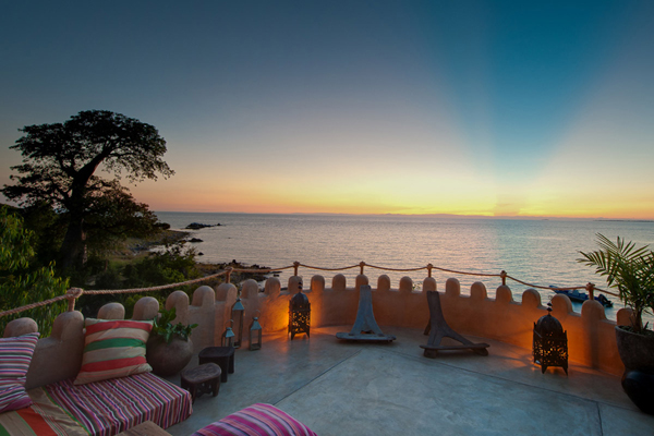Sunset over Lake Malawi from Ndomo Point private house