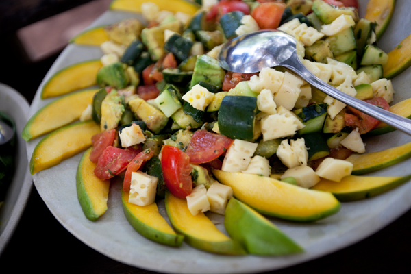 Plenty of options for vegetarians, vegans etc on safari, lunch at Serian Nkorombo safari dining