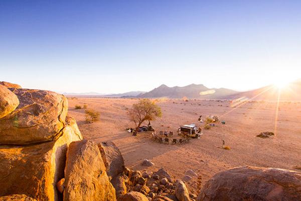 Namibia Horse Safaris camp kitchen (c. Teagan Cuniffe)