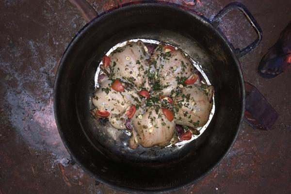 Pot roast chicken, Karisia Walking Safaris, Kenya