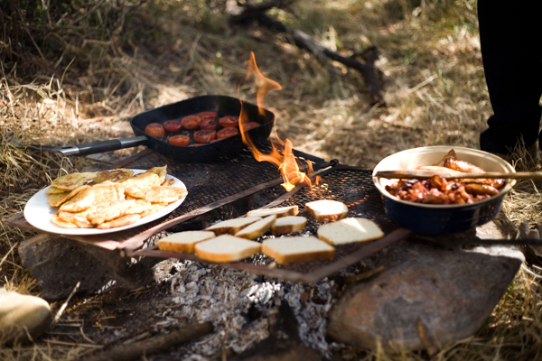 Campfire cooked breakfast, Laikipia, Kenya, Sosian Lodge, Offbeat Safaris