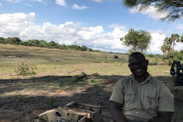 Hamza Mmole in Katavi National Park