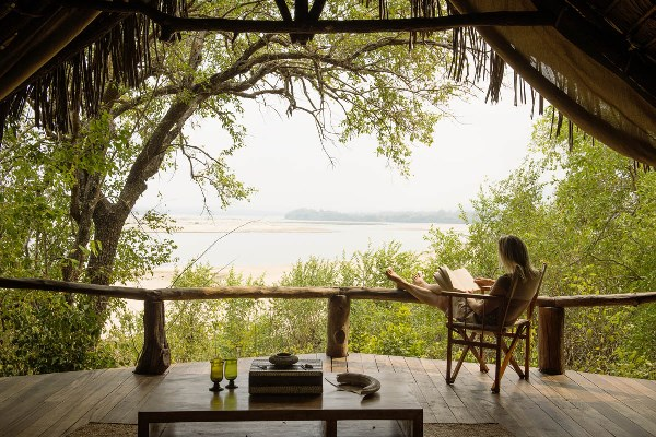 Views over the Rufiji River at Sand River Selous
